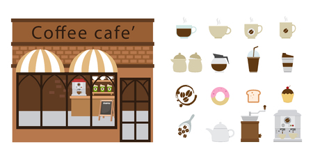 bread maker: coffee restaurant and coffee icon illustration