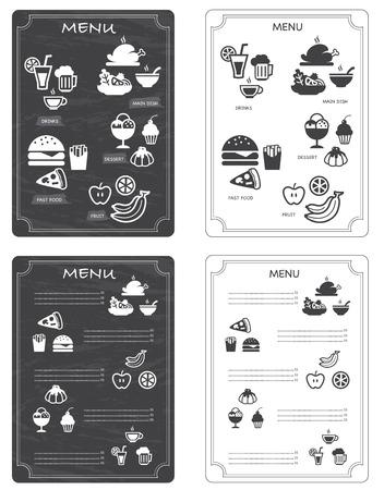 Ilustración del menú del restaurante
