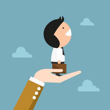 escape plan: The concept of businessman success,illustration