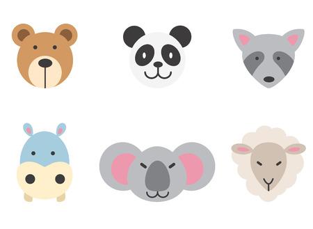 animal mouth: set of animal icon. Illustration