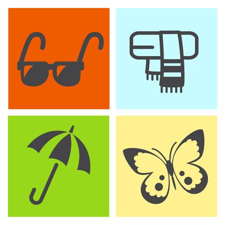 four season: Four season icon.vector Illustration