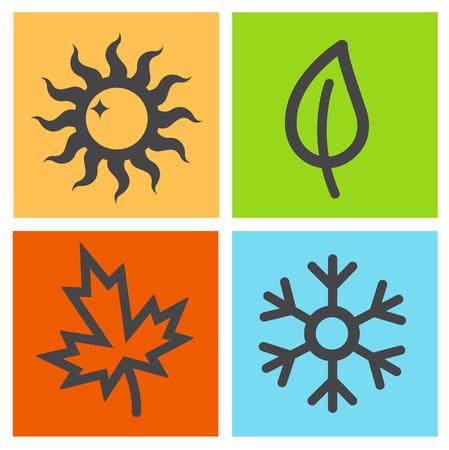 season: Four season icon.vector Illustration