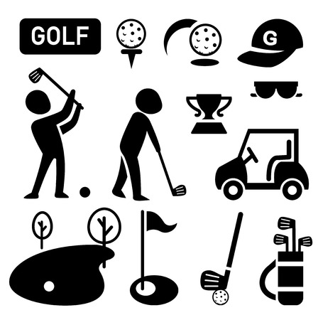 slashing: isolated golf icon illustration vector