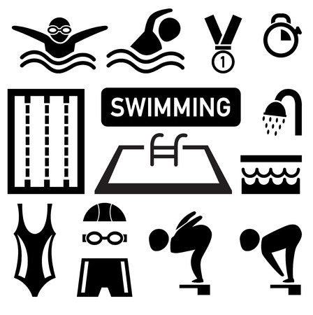 swimming: isolated swimming icon illustration vector
