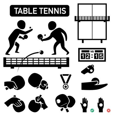 ping pong: aislado de ping-pong icono de ilustración vectorial Vectores