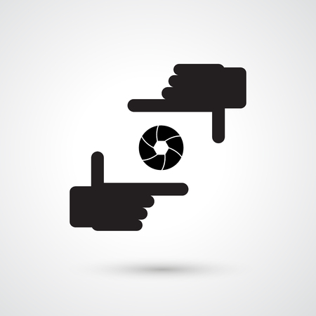 shoot: Camera icon vector