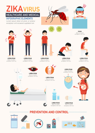 disease prevention: Zika virus infographics.vector illustration. Illustration