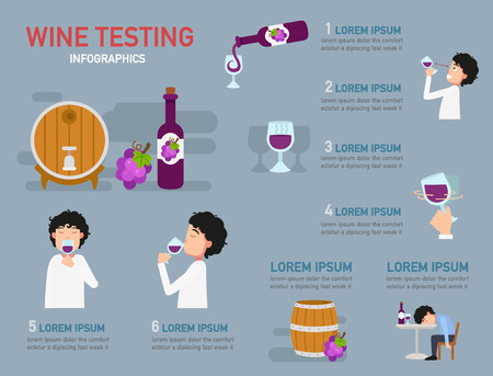 Wine tasting Infographic,vector illustration
