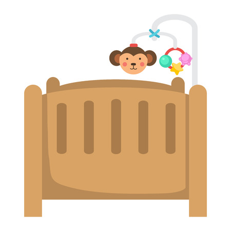 infant baby: illustration of isolated children bed on white background vector