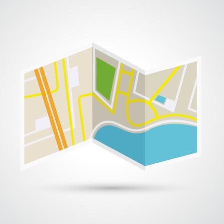 Carte papier icône vecteur