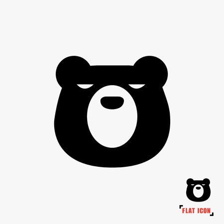 kodiak: Bear flat icon vector