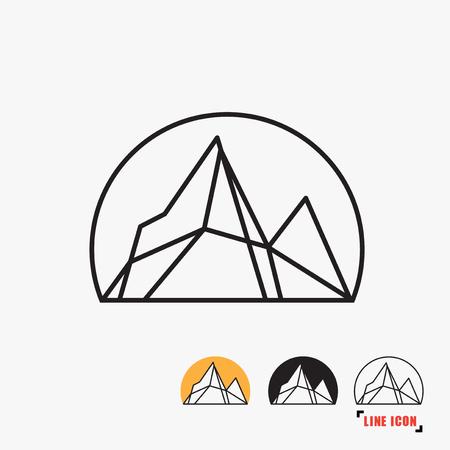 icon: Mountain line icon Illustration