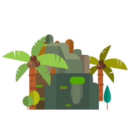 崖の図。  イラスト・ベクター素材