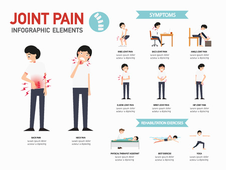Joint pain infographics. Illustration