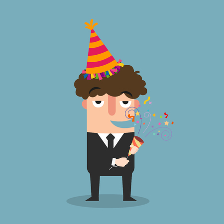 business man celebrating vector illustration Illustration