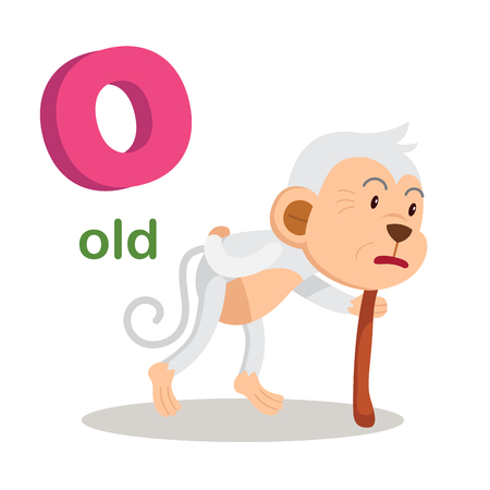 Illustration Isolated Alphabet Letter O Old.vector