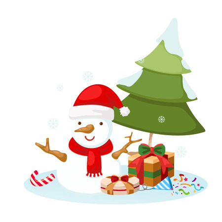 illustration of snowman vector