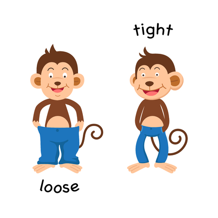 Opposite  loose and tight vector illustration Иллюстрация