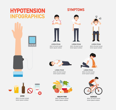 Hypotension infographic,vector illustration Vectores