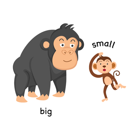 Opposite big and small vector illustration Çizim