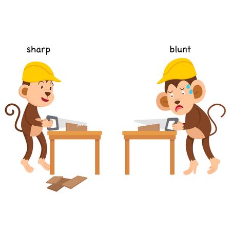 Opposite sharp and blunt vector illustration 矢量图像