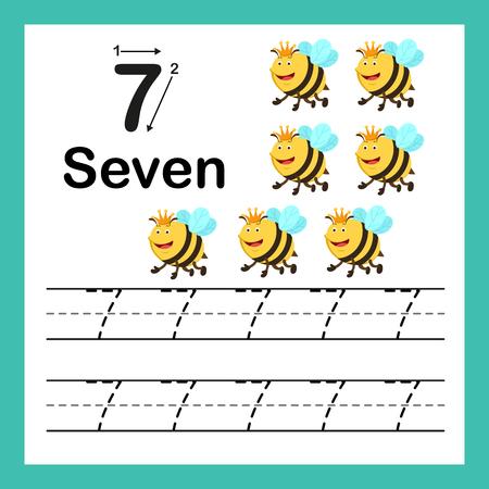 Relier les points et les nombres imprimables avec un joli dessin animé pour l'illustration des enfants d'âge préscolaire et de la maternelle, vecteur Vecteurs