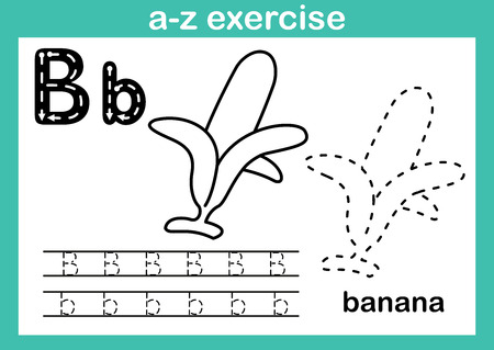 Alphabet a-z exercise with cartoon vocabulary for coloring book illustration, vector 版權商用圖片 - 105391293