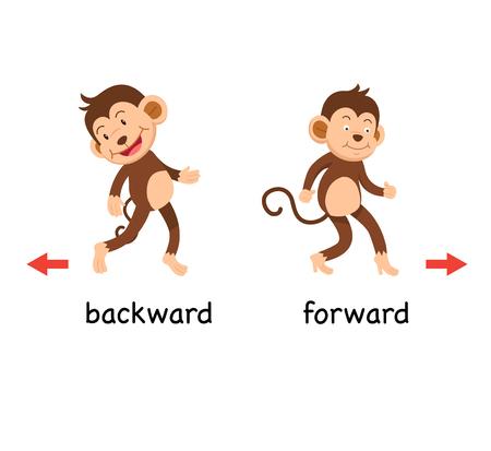 Opposite backward and forward vector illustration Ilustração Vetorial