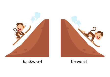 Opposite backward and forward vector illustration