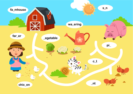 Education maze game vector illustration