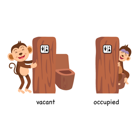 Opposite vacant and occupied vector illustration Vectores