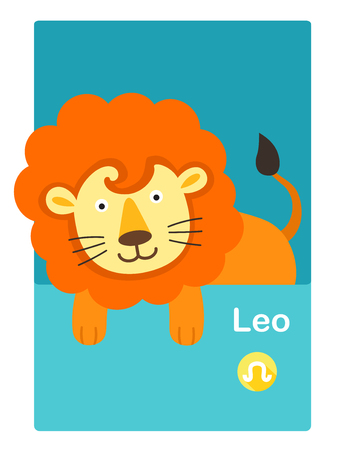 Illustration of isolated leo vector. zodiac signs