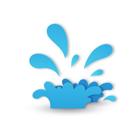 water splash paper cut style illustration vector Stock Vector - 111202869