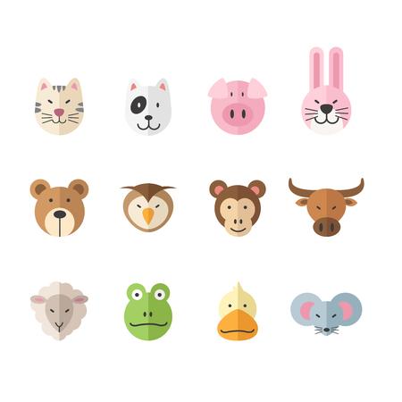 illustration set of animal colorful icon Иллюстрация