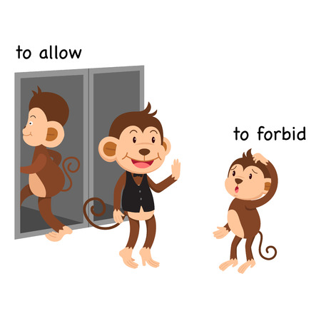 Opposite to allow and to forbid vector illustration Vector Illustration