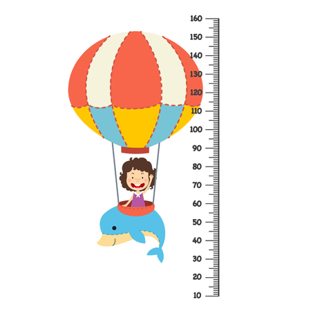 Meter wall with balloon.vector illustration Illustration
