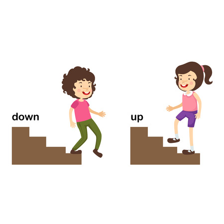 Opposite up and down vector illustration