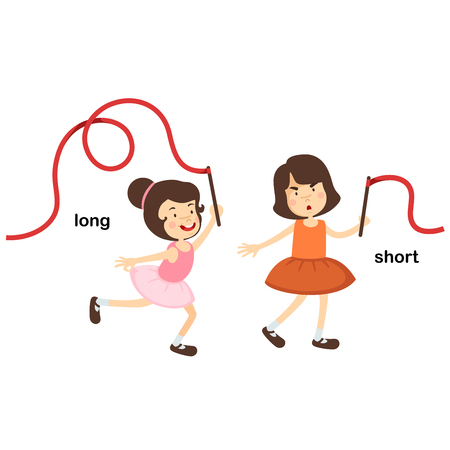 Opposite short and long vector illustration