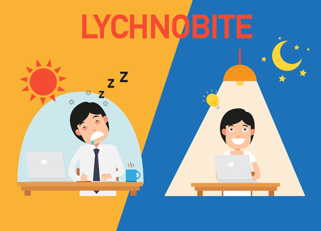 lychnobite vector illustration