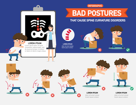 Bed positions infographic vector illustration