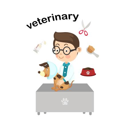Profession veterinary.vector illustration. Ilustrace