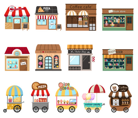 collection shop store illustration vector