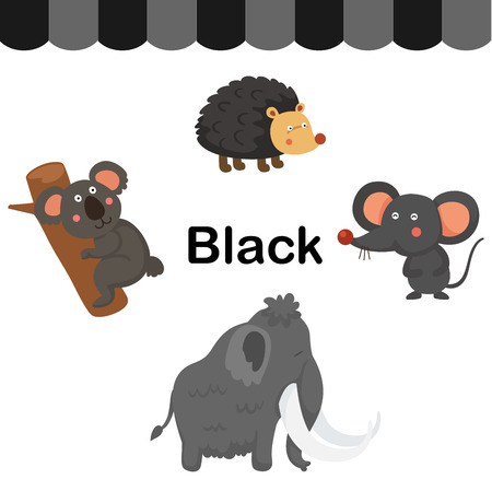 Illustration of isolated color black group vector Ilustração