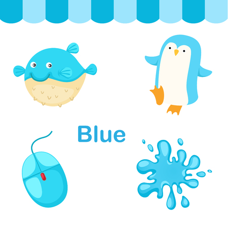 Illustration of isolated color blue group vector Ilustração