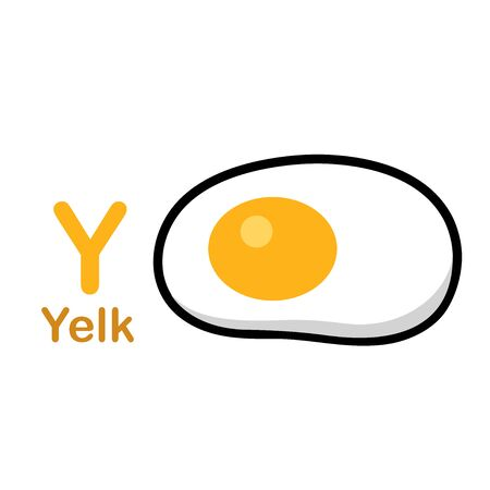 Alphabet Letter Y-Yelk vector illustration