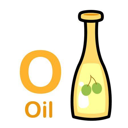 Alphabet Letter O-Oil vector illustration