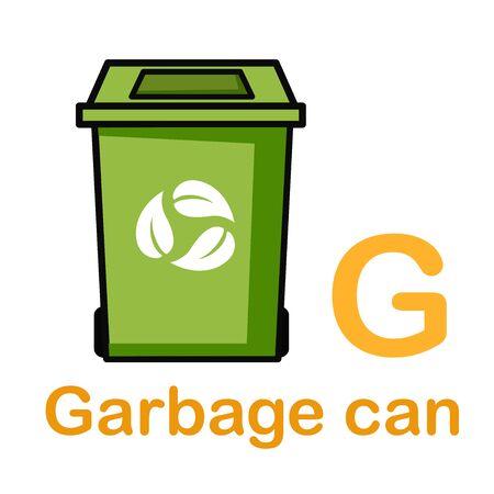 Alphabet Letter G-Garbage vector illustration