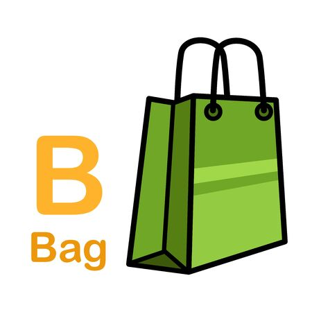 Alphabet Letter B-Bag vector illustration