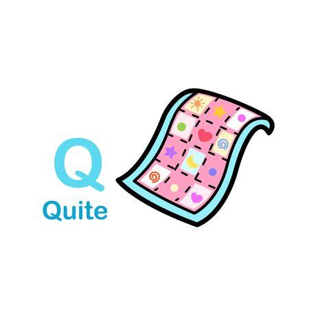 Alphabet Letter Q-Quite vector illustration