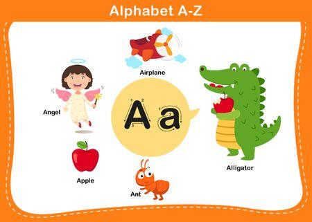 Alphabet Letter A vector illustration